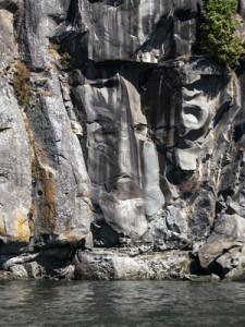 Gesicht im Felsen
